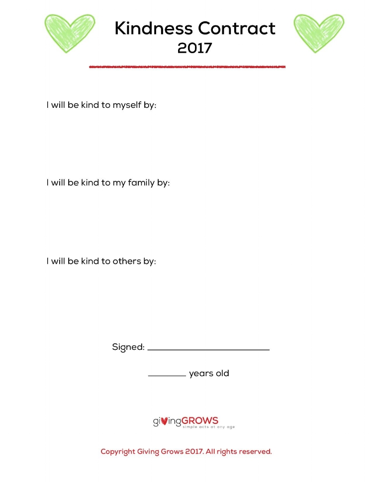 Kindness Contract 2017