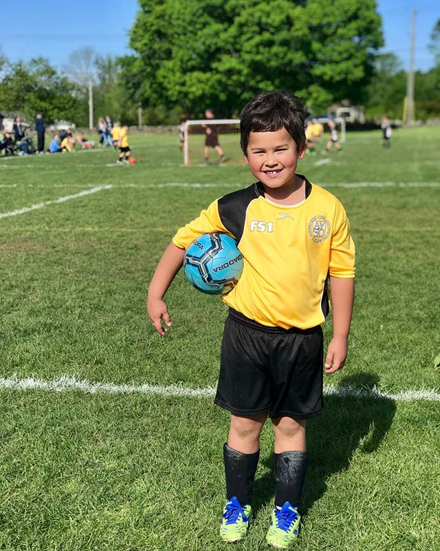 At a very young age, I started playing soccer, so the Saturdays of my childhood were always dedicated to games. It is such fun as my 7-year old is now in his second year of playing AYSO and seems to have inherited my penchant for defense...and disinterest in running. 🤣  I love the community on the fields, being outside with friends, and how the schedule forces us to get up and get out. (Scratch that — 7:15 this morning for pictures was a bit TOO early to get out!) What has surprised me about this experience is how many giving opportunities there are through the organization. I'm not sure if I wasn't aware of them as a child or if they didn't exist or if our local crew simply creates more opportunities. Our AYSO sells pink socks to support breast cancer research, discounted hockey tickets to support a scholarship fund, coat drives for people experiencing homelessness, and toy drives for a pediatric hematology-oncology unit. It's simply awesome. Weaving giving into the various interests and activities our children participate in is genius!  What fabulous giving opportunities do your kids' sports teams or youth organizations offer? Share some inspiration!  Happy Saturday and Happy Giving! ❤️ • • • • • #givinggrows #makeadifference #ayso #charitablegiving #itsthateasy #soccer #teachthemyoung #youth #soccermom #kids #children #kidssports #youthsoccer #whynot #sparkkindness #dogood #parenting
