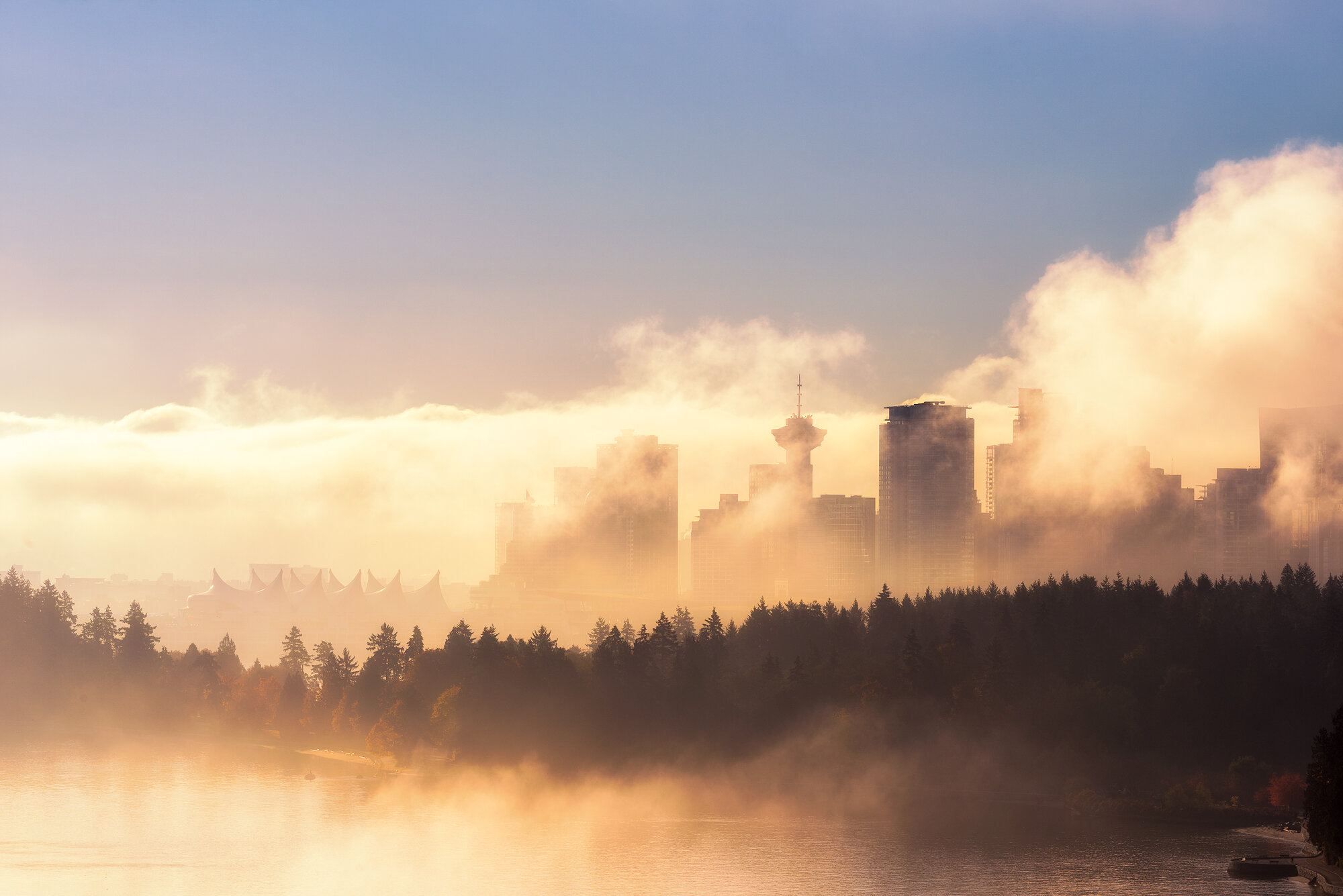 Vancouver Fog Photography: 'Vancouver Fog Silhouette'