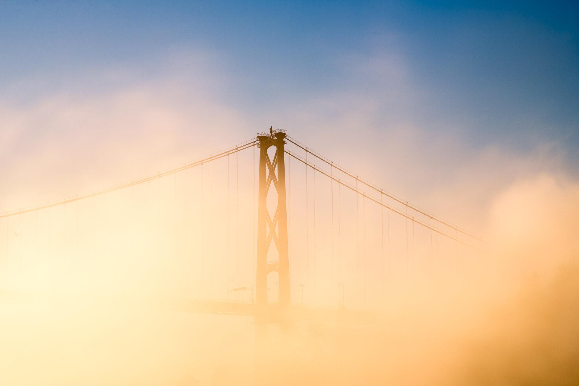 Vancouver Fog Photography: 'Lions Gate Bridge'