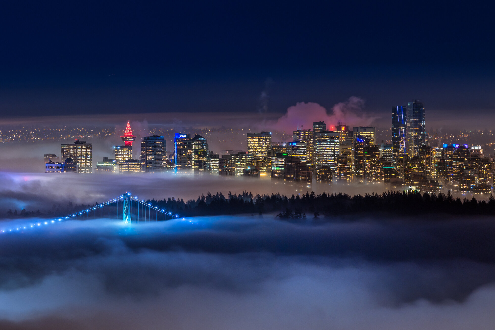 Vancouver Fog Photography: 'City of Fog'