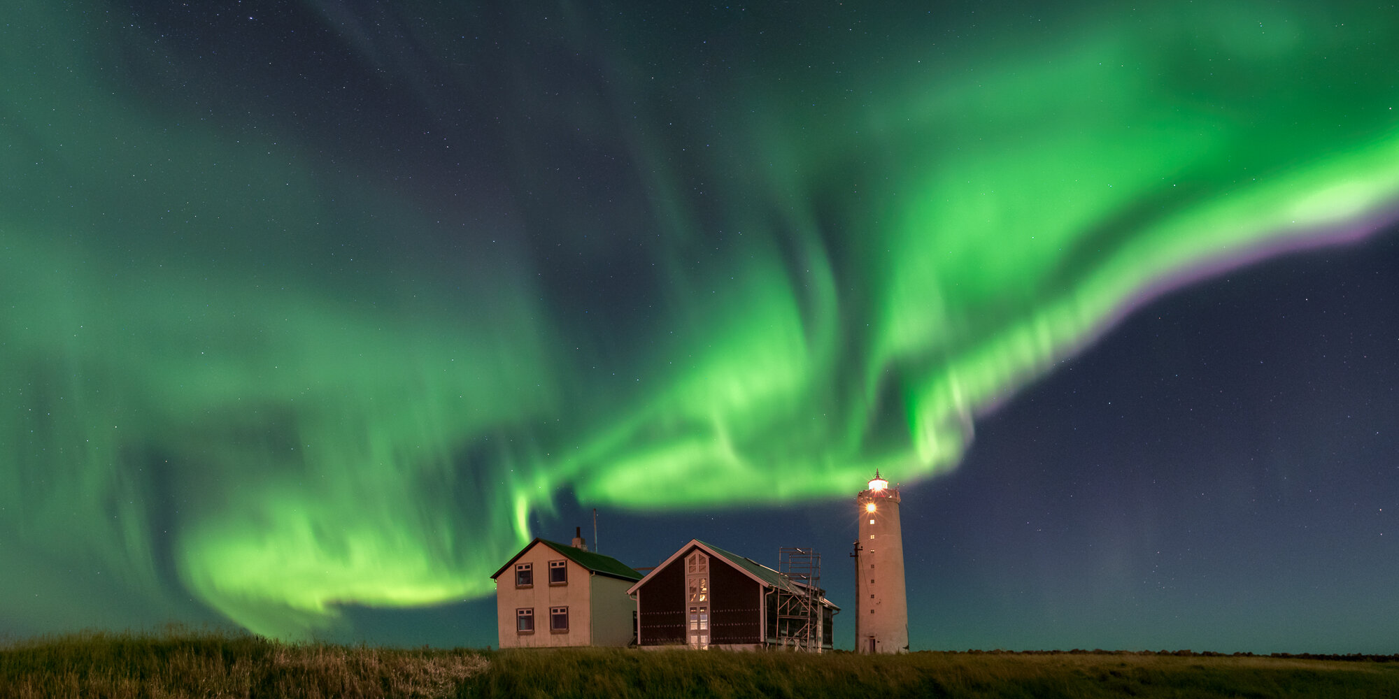 Iceland Northern Lights Photography: 'Vik Farmhouse'
