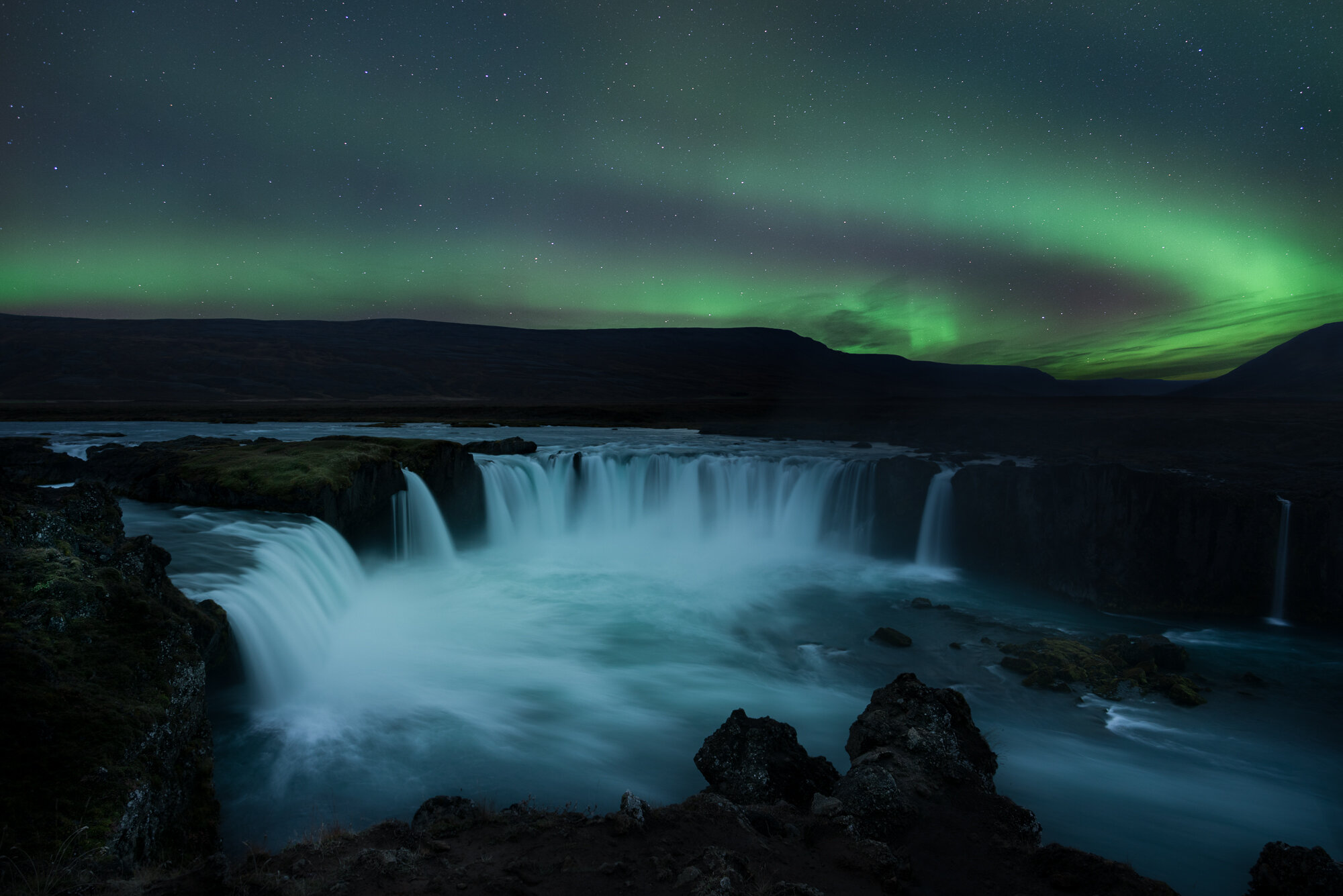 Iceland Northern Lights Photography: 'Godafoss Lightshow'