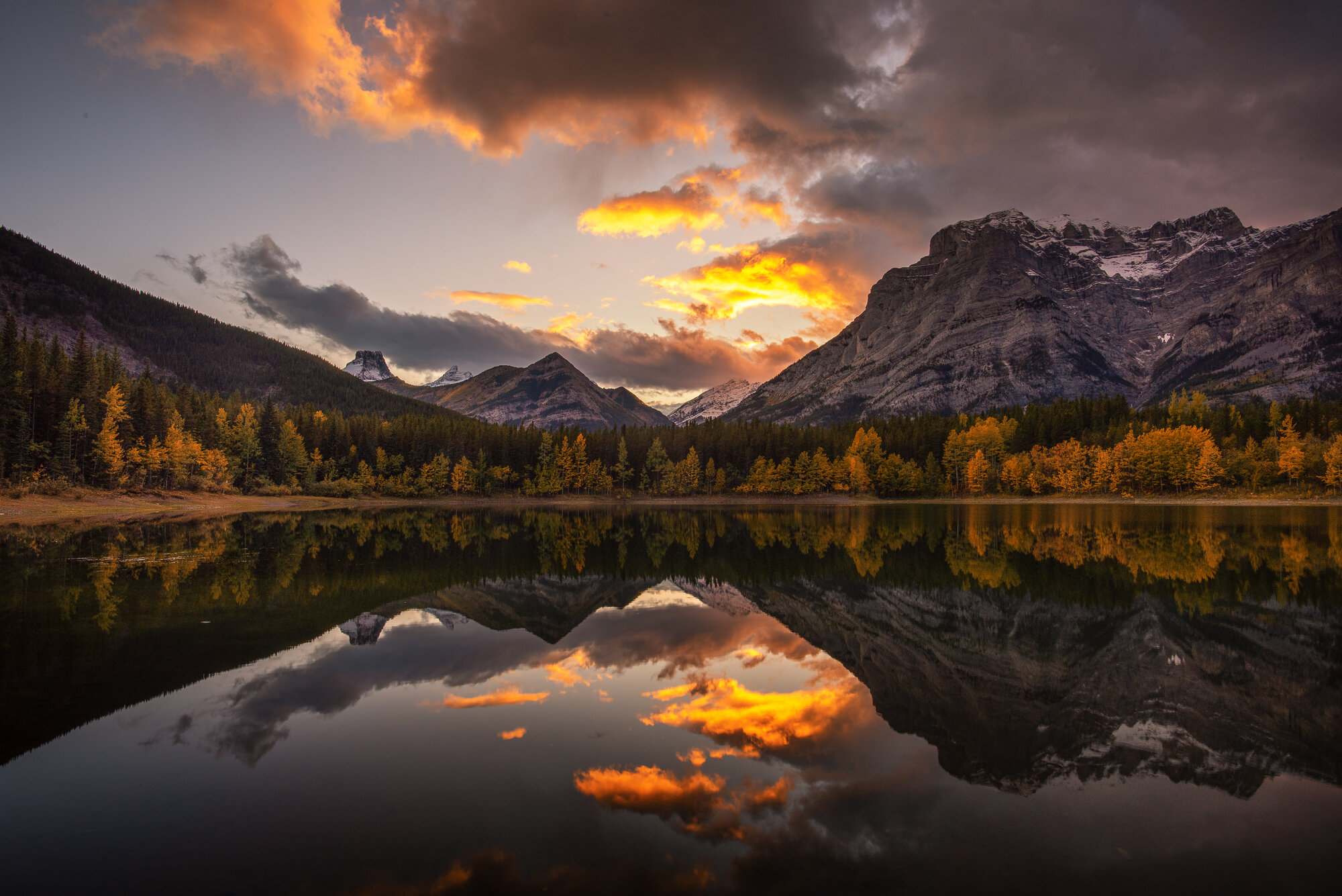 Kananaskis Country Photography: 'Wedge Pond Fire'