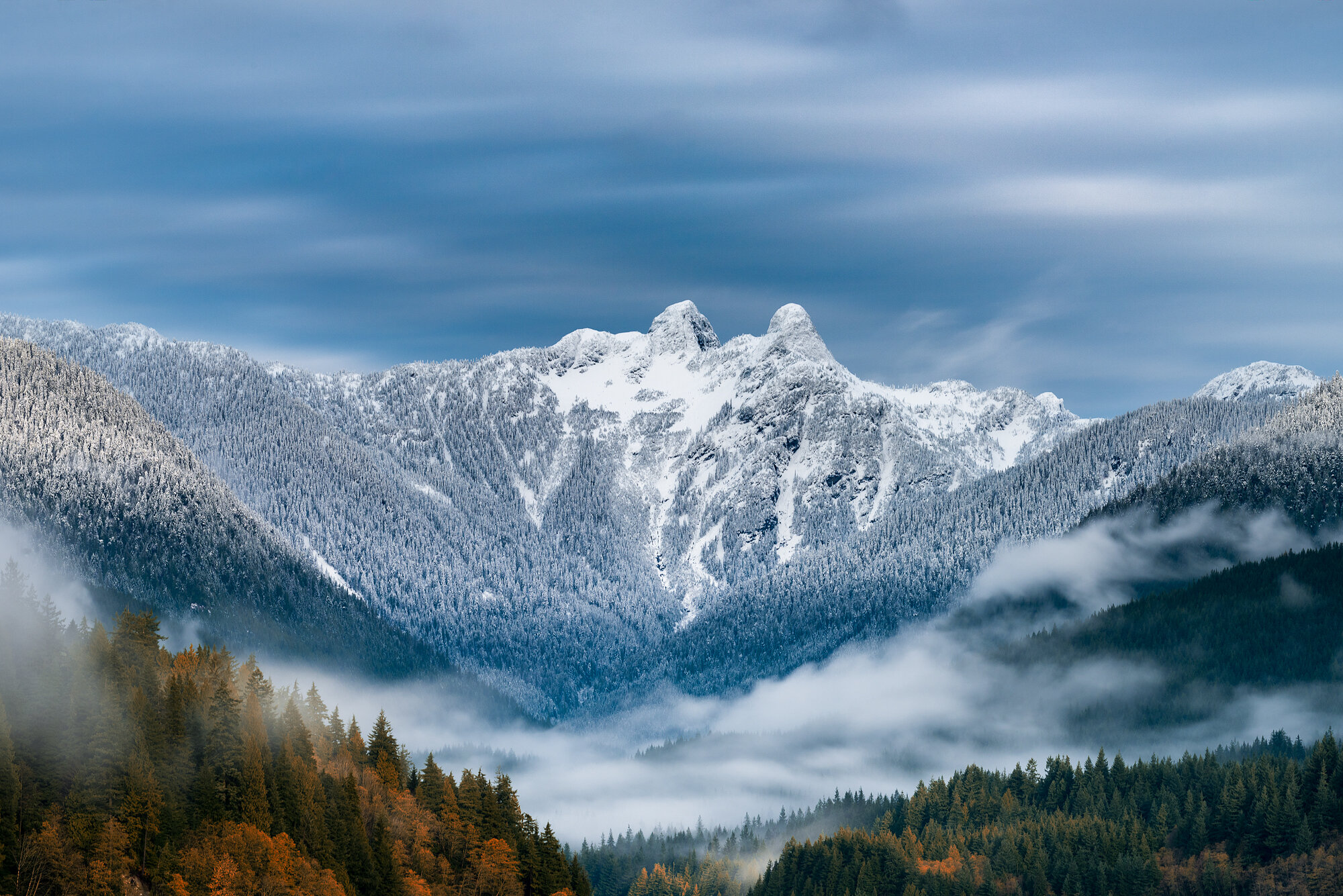 British Columbia Mountains: 'Freshly Dusted Lions'