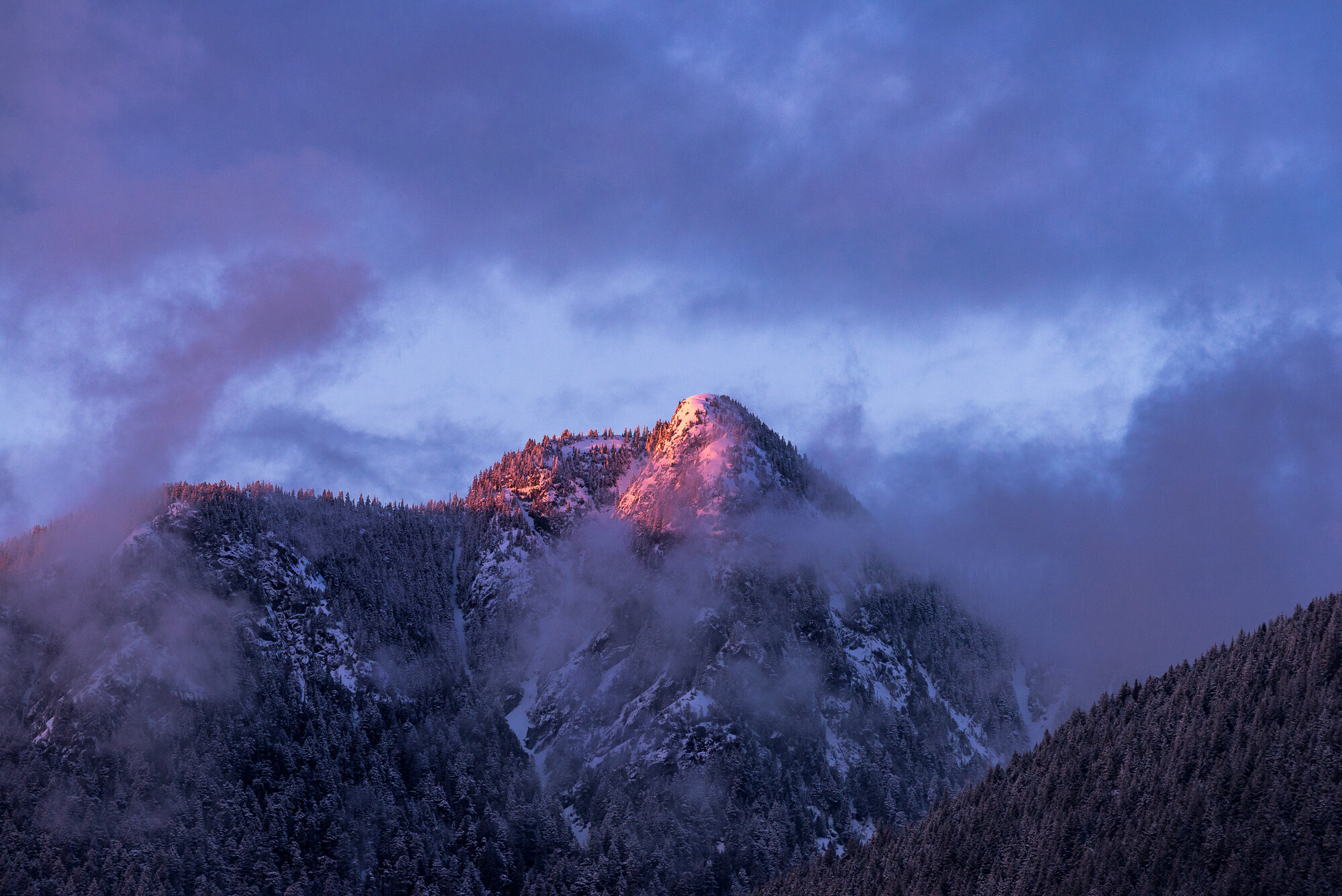 British Columbia Mountains: 'Crown Mountain Alpenglow'