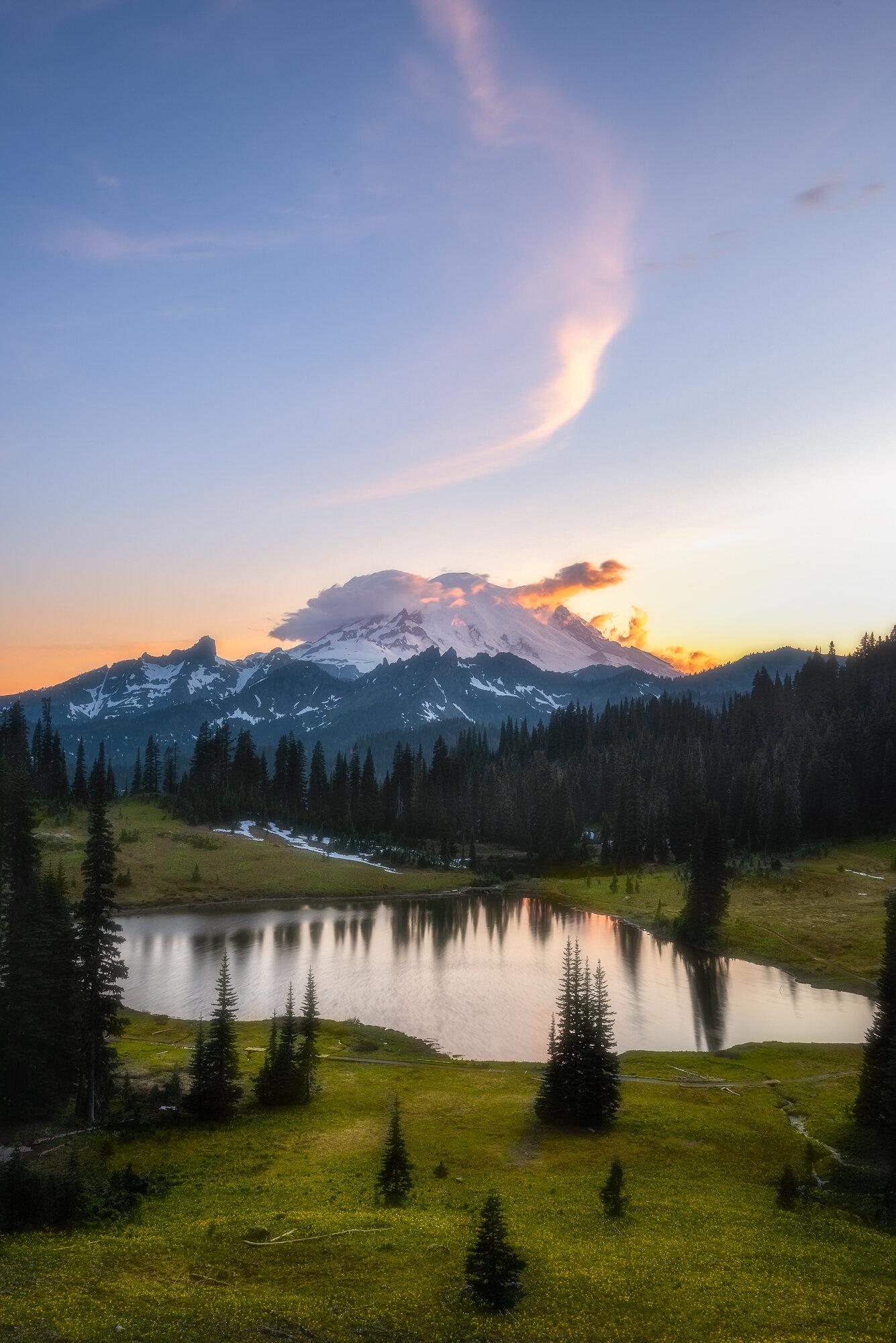 Mount Rainier Photography: 'Tipsoo Lake Sunset'