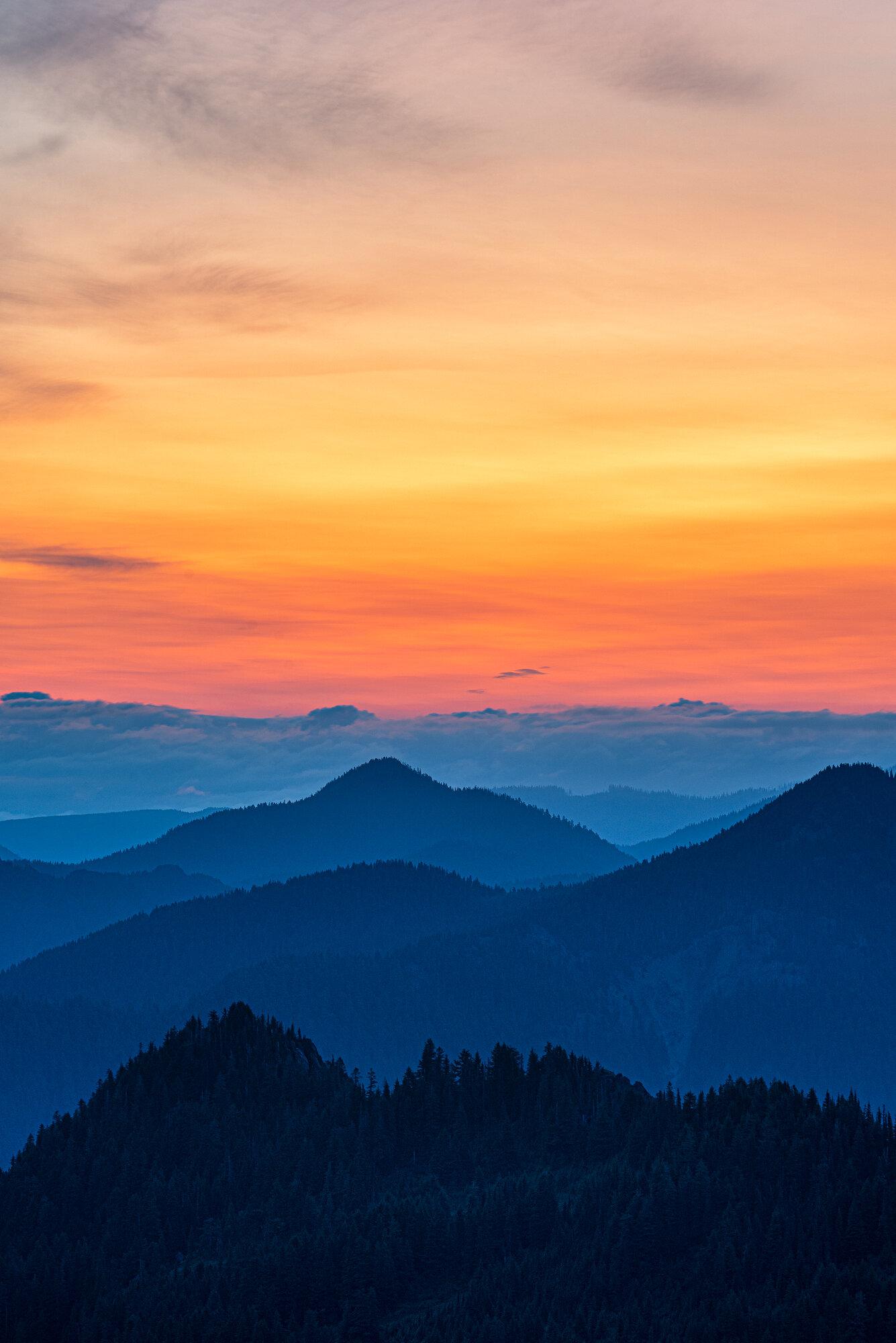 Mount Rainier Photography: 'Layers at Sunrise'
