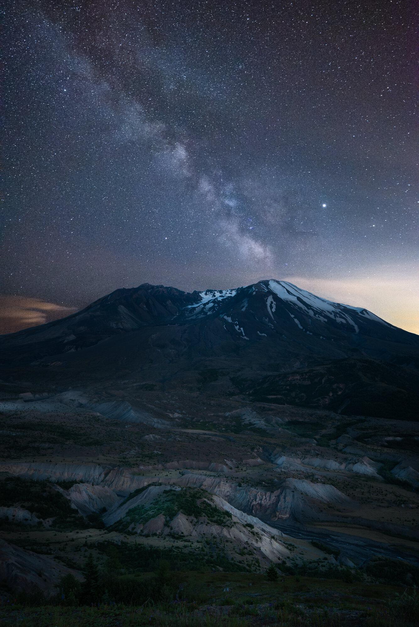 Mount St. Helens Photography: 'St. Helens under Starlight'