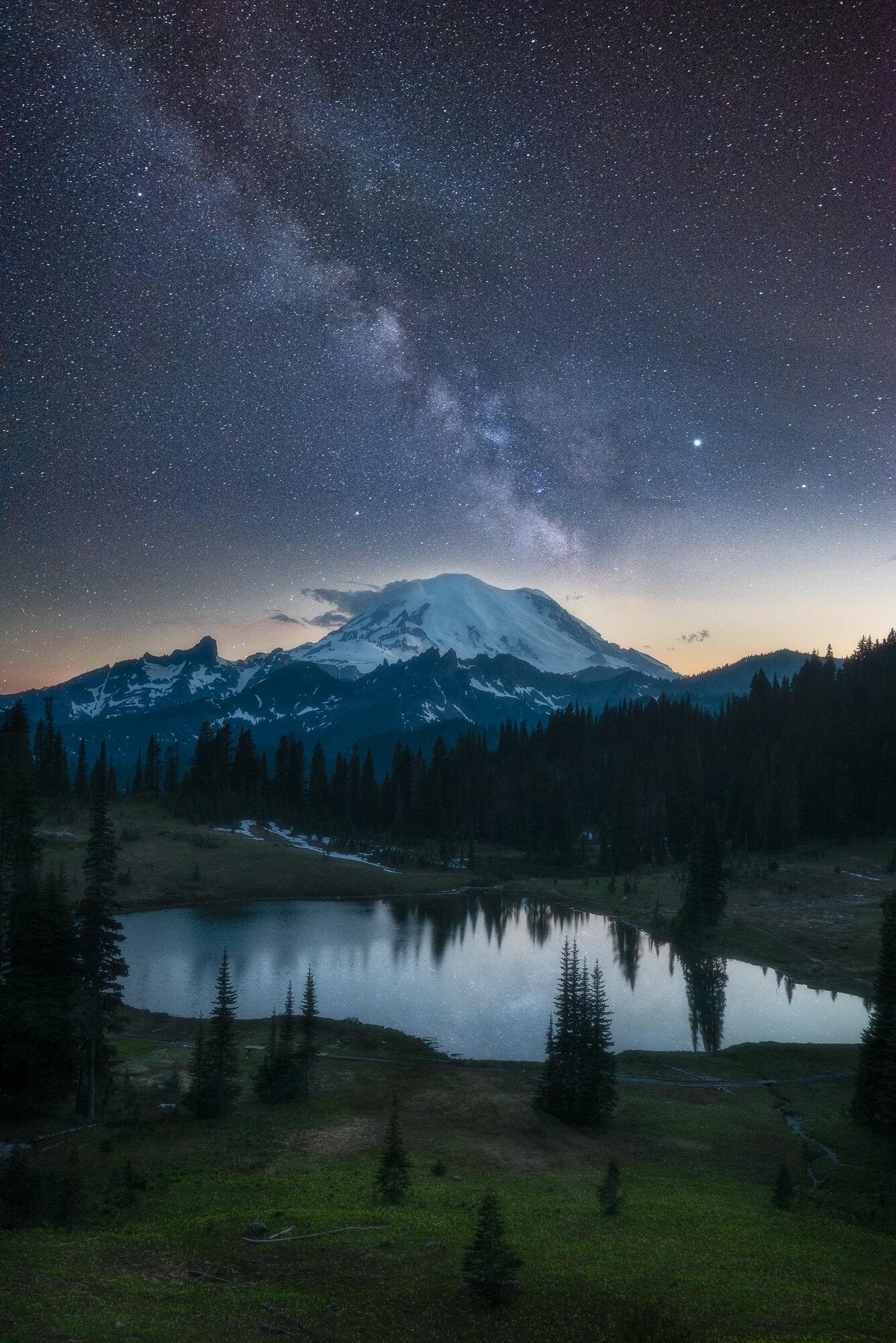 Mount Rainier Photography: 'Rainier Under Starlight'