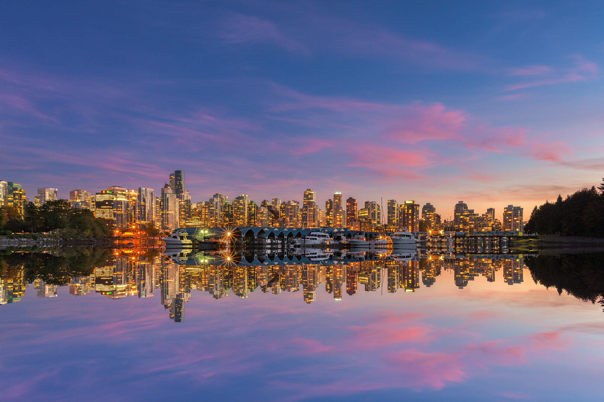 Vancouver City Photography: 'Sunset Pastels over the City'