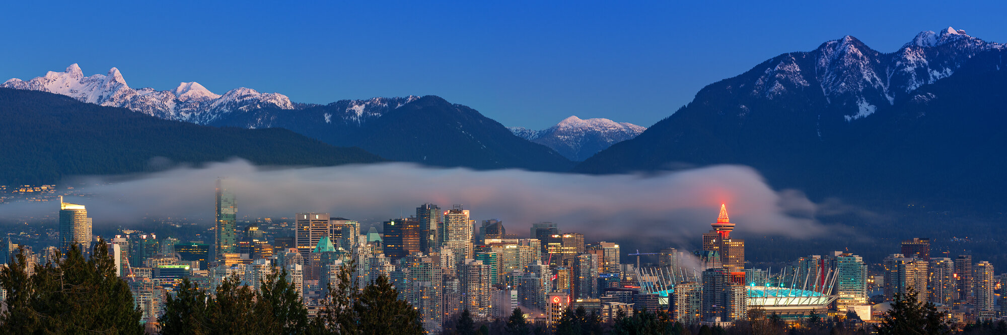 Vancouver City Photography: 'Winter Sunrise over Vancouver'