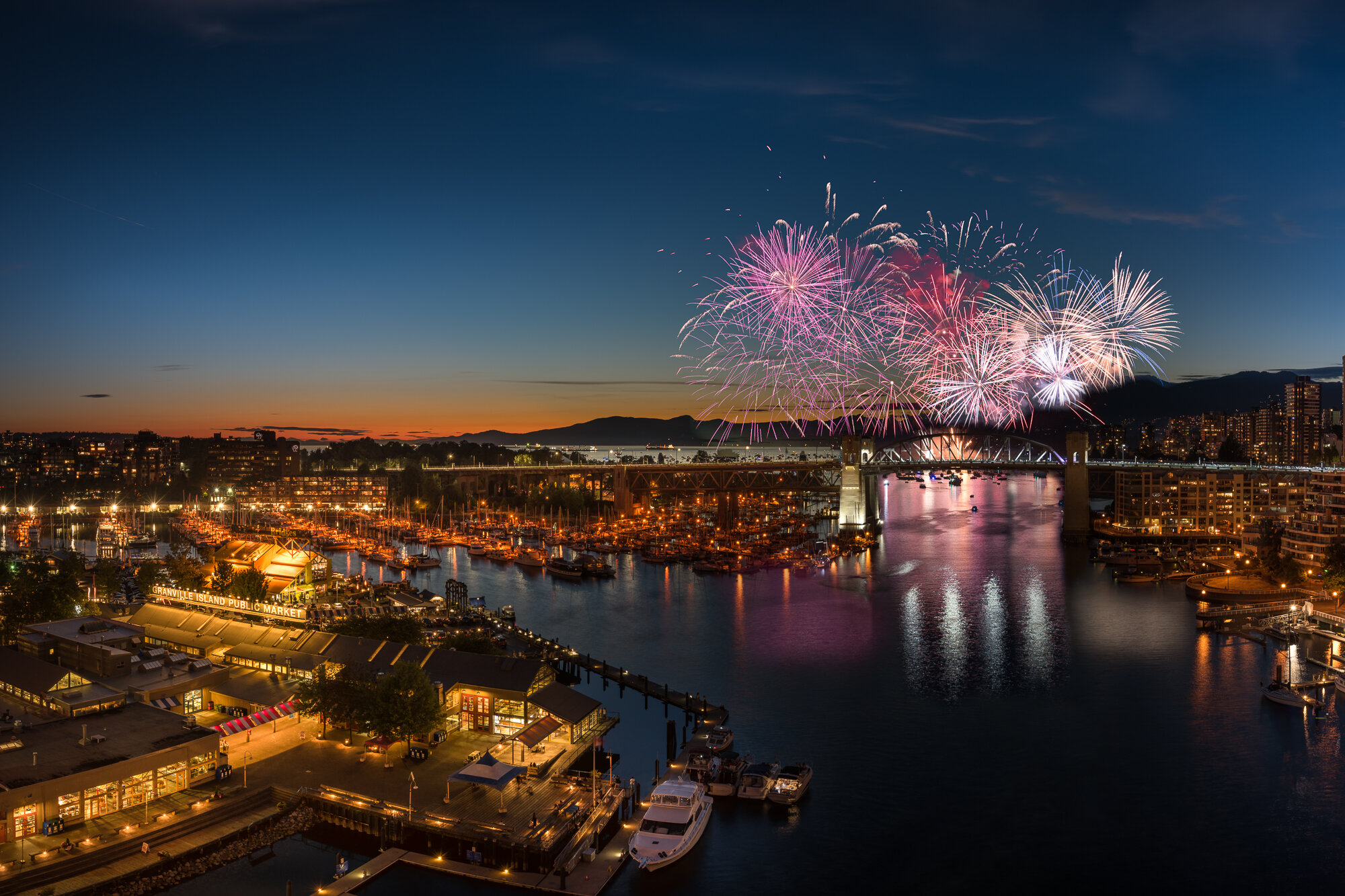 Vancouver City Photography: 'Granville Island Fireworks'