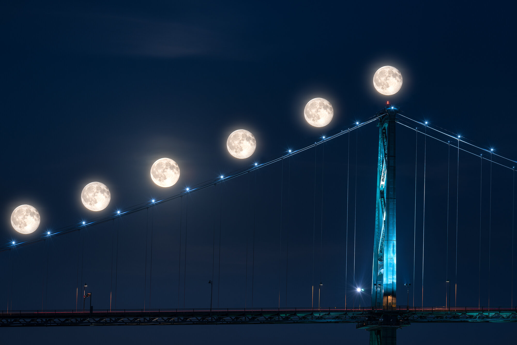 Vancouver City Photography: 'The Moon's Progression'