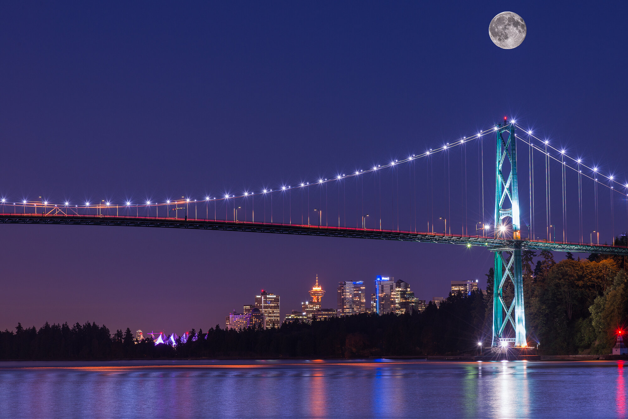 Vancouver City Photography: 'Once in a Blue Moon'