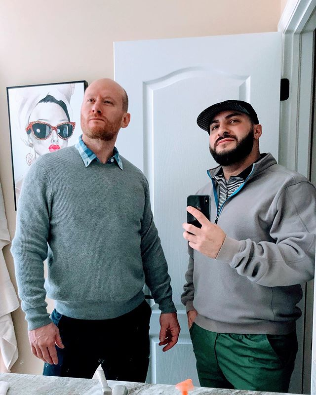 It's @yashakahn birthday today! So here's a photo of us before we played golf like the classy gentlemen we are 🤔. Show him some old man lovin cause he's officially in masters category today. Enjoy your saggy balls my brother from another mother. #chasingkilos #chasingkgs #russianweightlifting #sovietstrength #houseofkahn #makeitpretty #trainedbyjames #usaw #usaweightlifting #oly #olympiclifting #olympicweightlifting #crossfit #snatch #clean #jerk #squat #pull #nyc #brooklyn #prospectheights #merica #yeahbuddy #pls #hookgrip #atg #menshealthmag #womenshealthmag