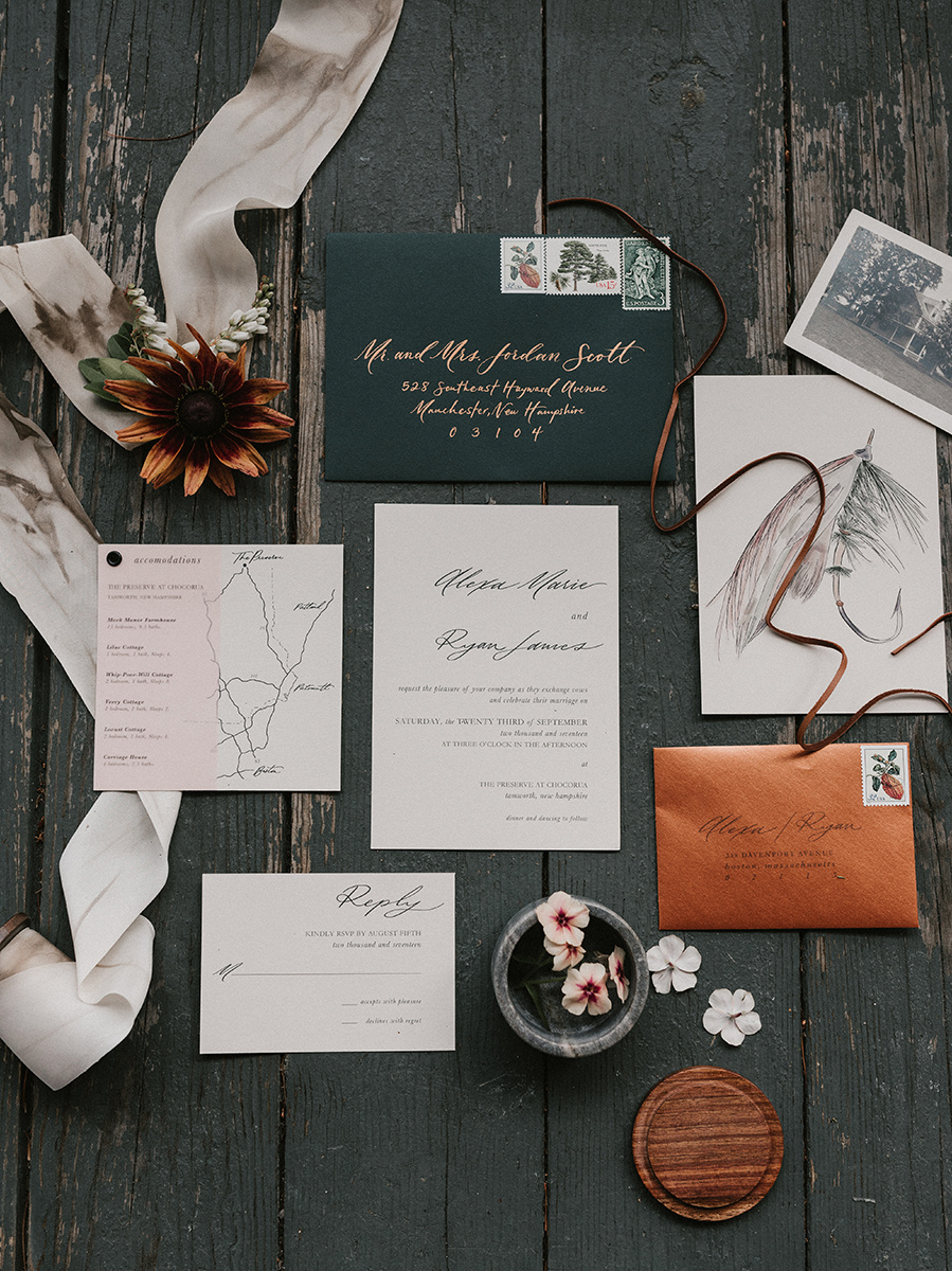 New Hampshire_Weekend Away Wedding Invitation Suite