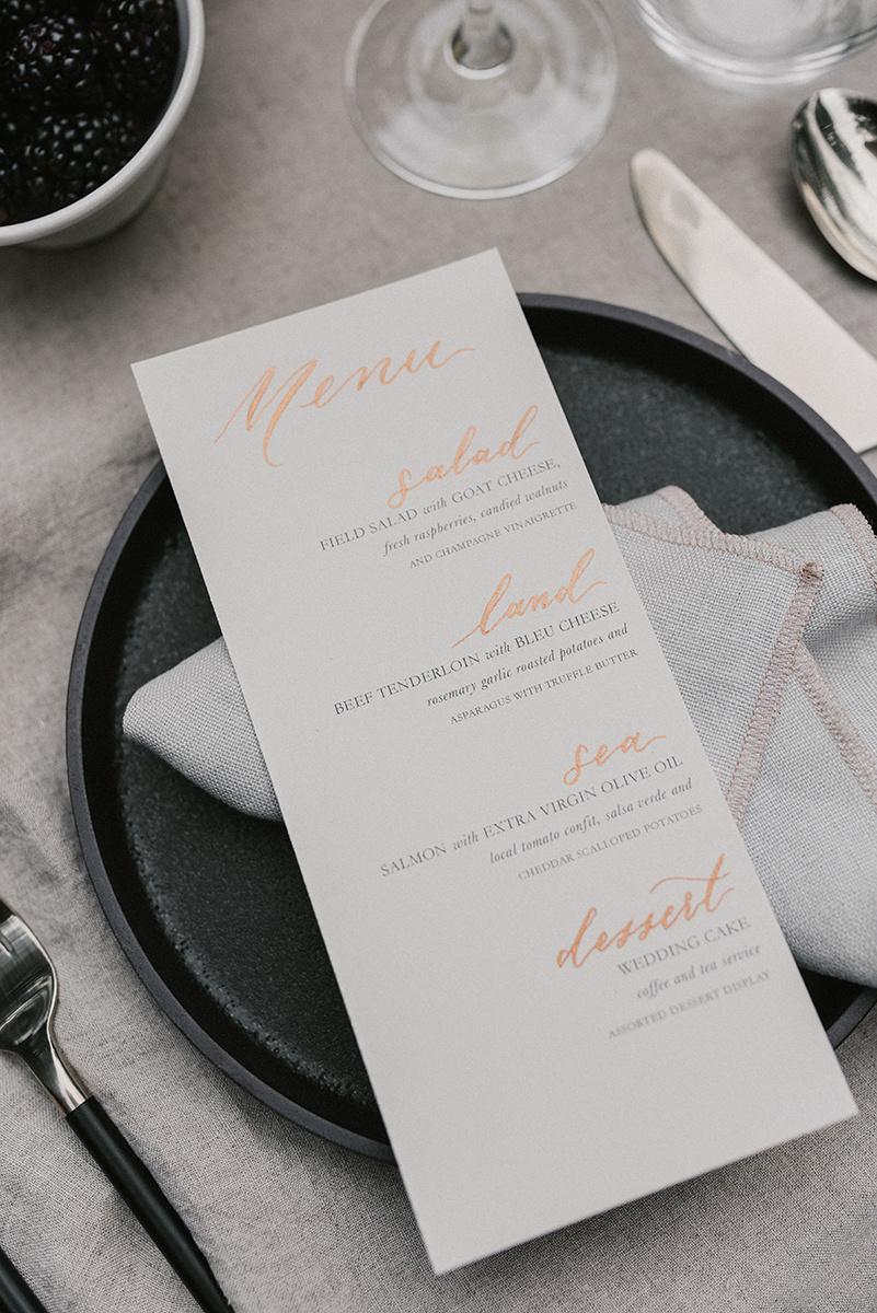 New Hampshire_Weekend Away Wedding Dinner Menu