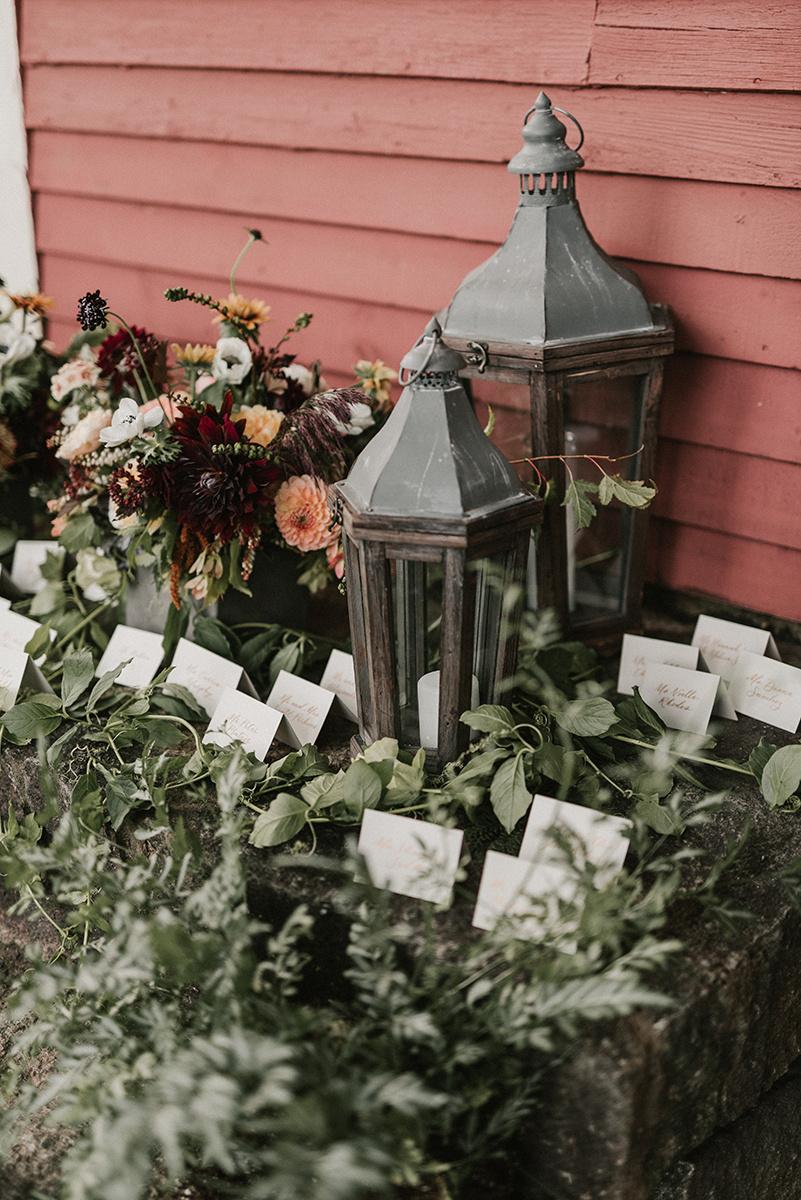 New Hampshire_Weekend Away Wedding Escort Card Display