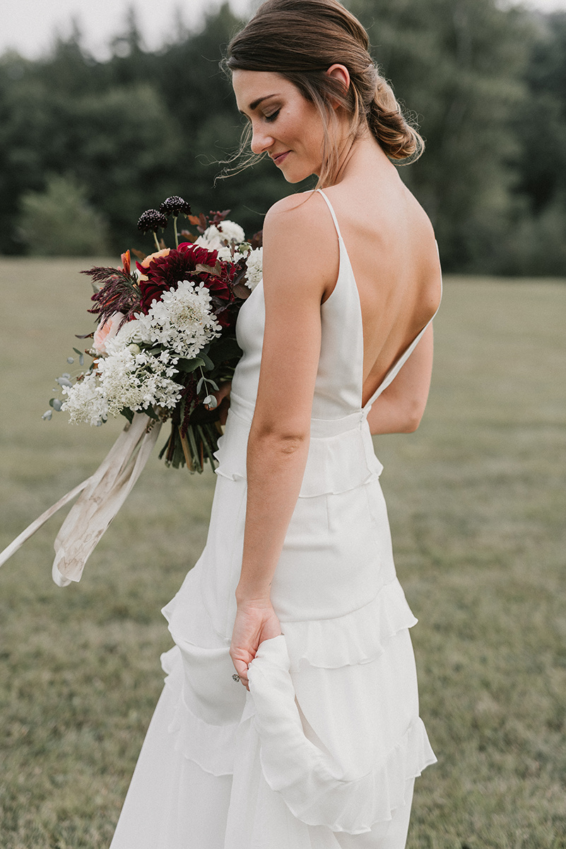 New Hampshire_Weekend Away Wedding Bride Portrait
