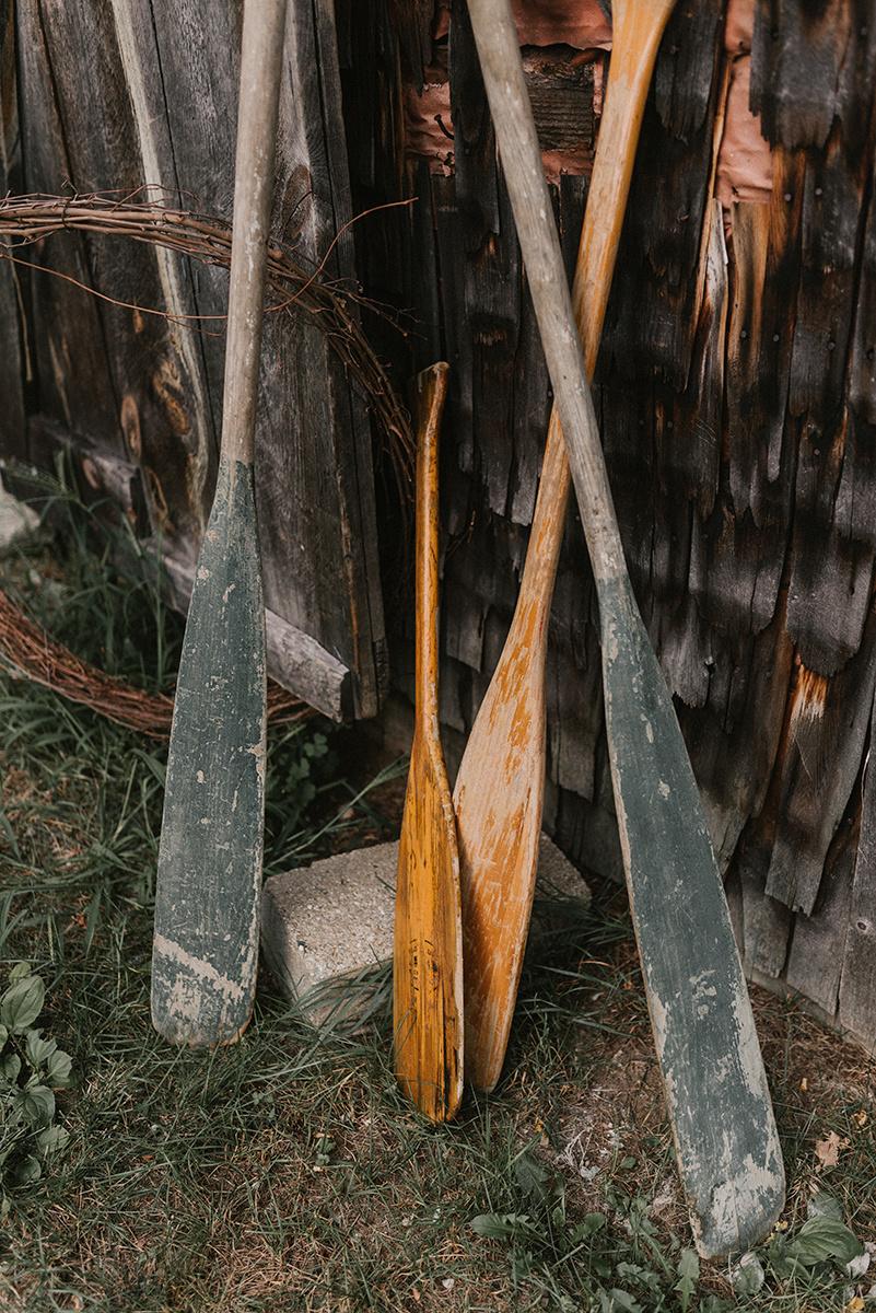 New Hampshire_Weekend Away Wedding Canoe Paddles