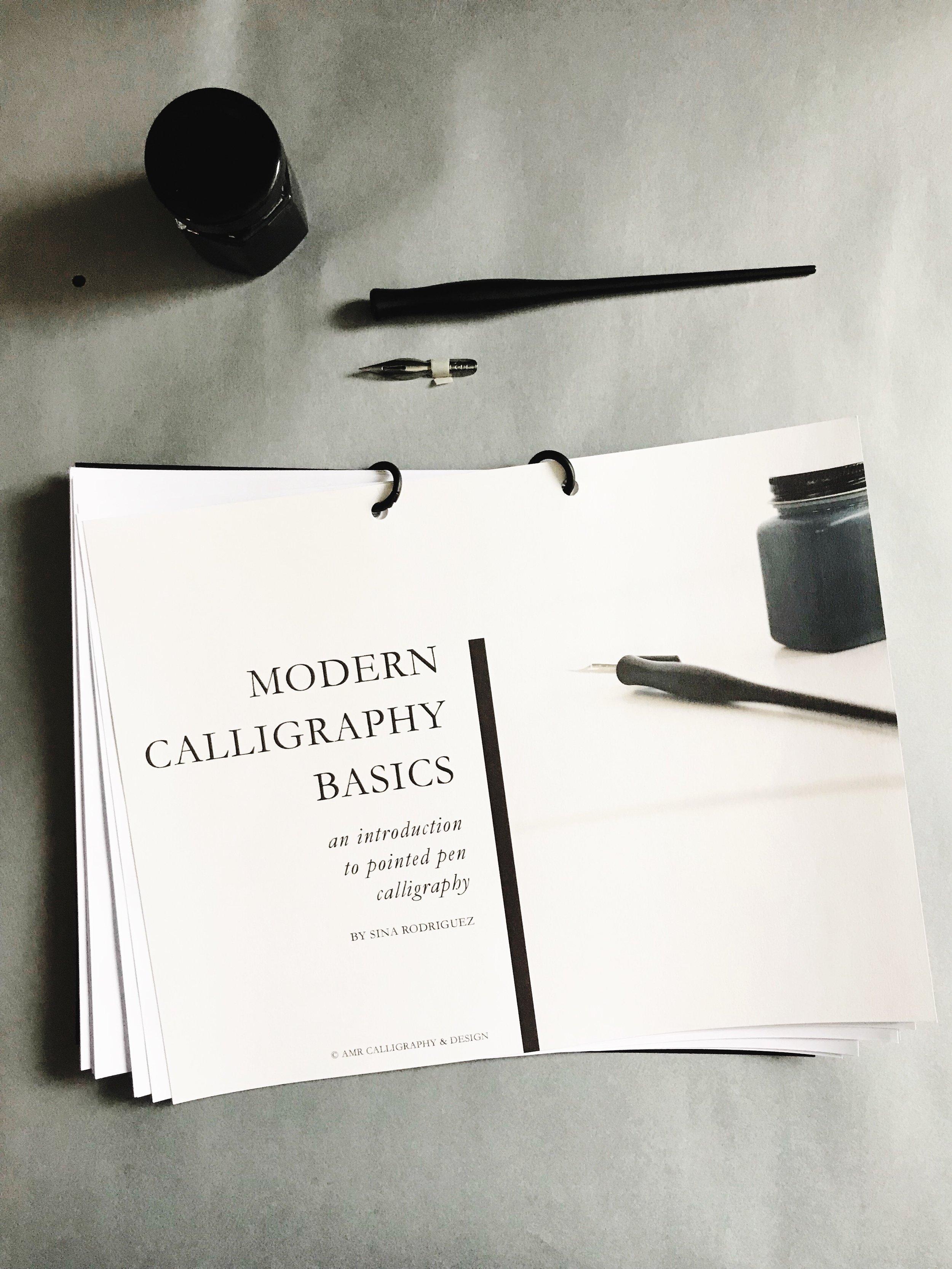 AMR Calligraphy & Design Workshop AMR Modern Calligraphy Alphabet Workshop Workbook