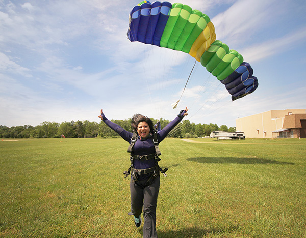 go skydiving for the first time