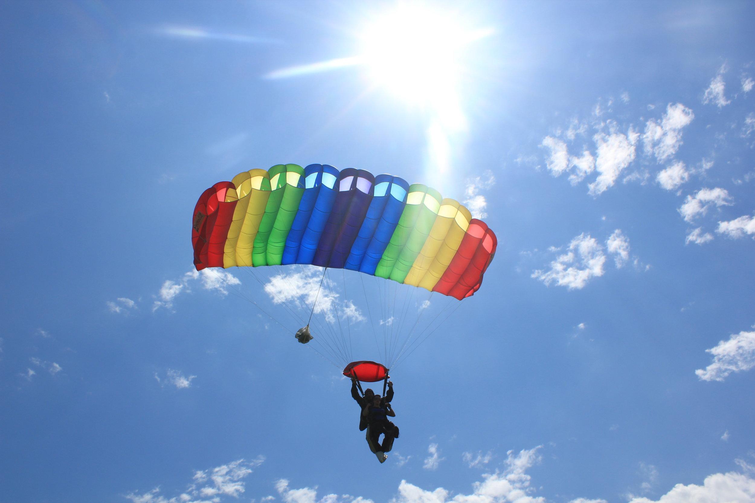Tandem skydiving at Skydive Cross Keys 2017