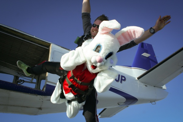 skydiving on easter