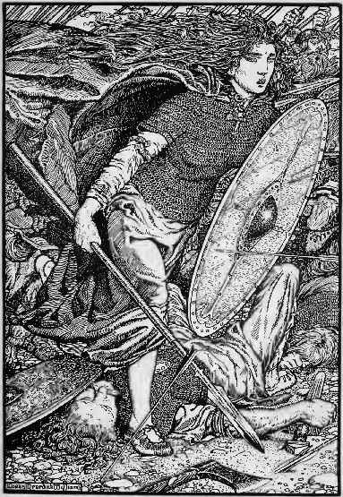 M Meredith Williams,  Lagertha  lithography, 1913