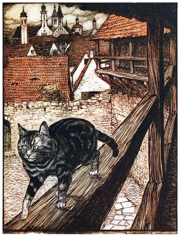 Arthur Rackham,  Untitled  from  Hansel & Grethel & other tales , by Brothers Grimm, 1920