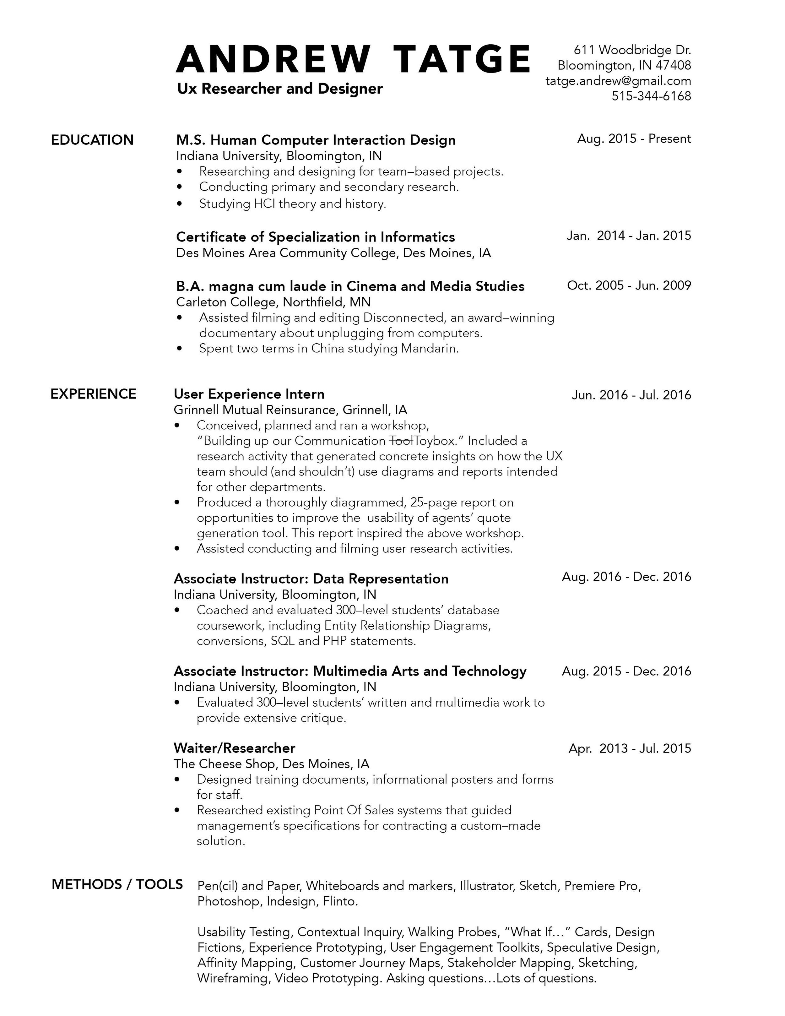 Click for PDF of my résumé