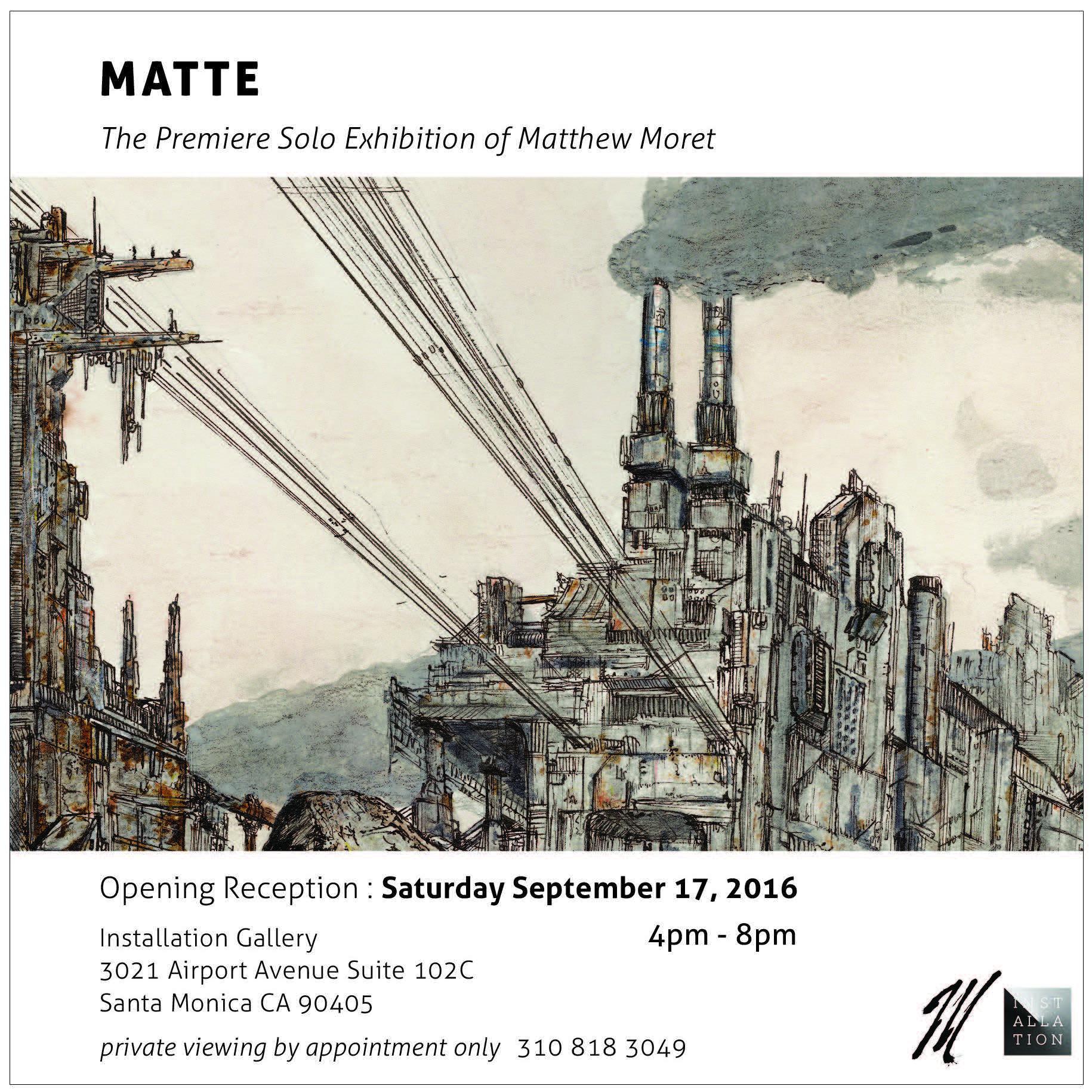 Art Exhibition Invitation Card Standing Hall