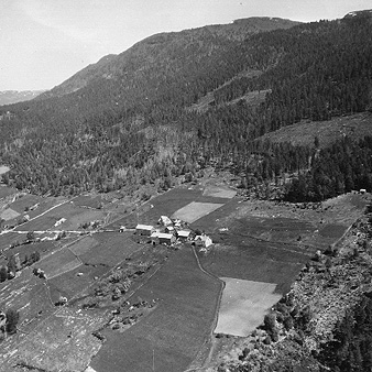 An old aerial view of the Hostager farmstead