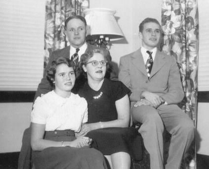 Rudy, Roger, Shirley and Celia Hostager, Wanamingo, Minnesota