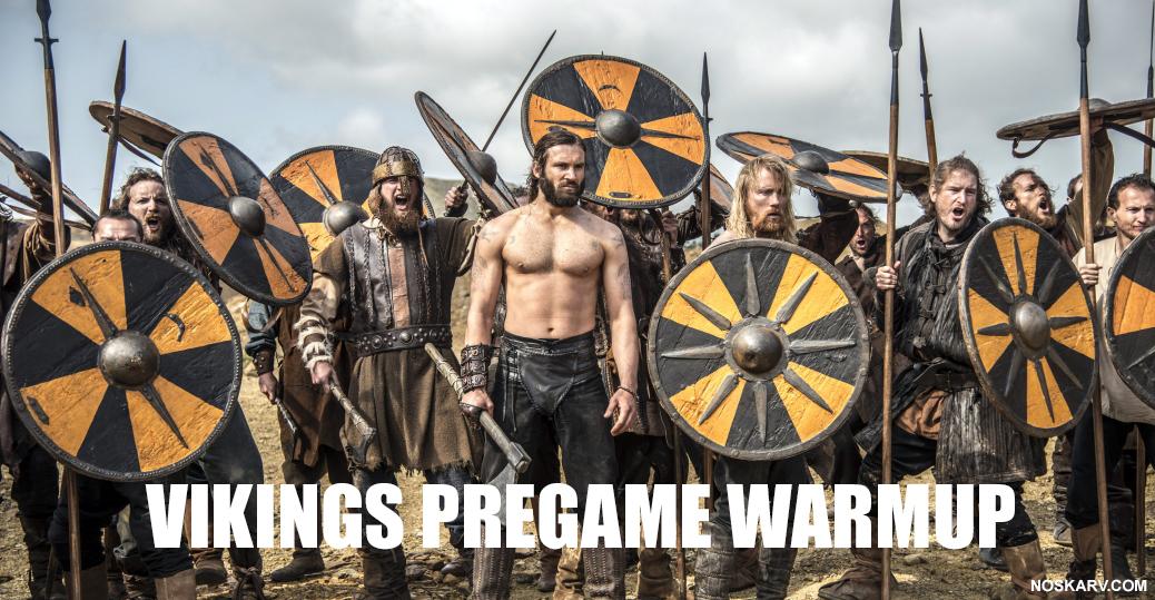 minnesota vikings pregame warmup meme norskarv rollo clive standen alt for norge