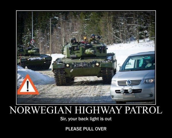 norwegian highway patrol meme pull over norskarv norway alt for norge