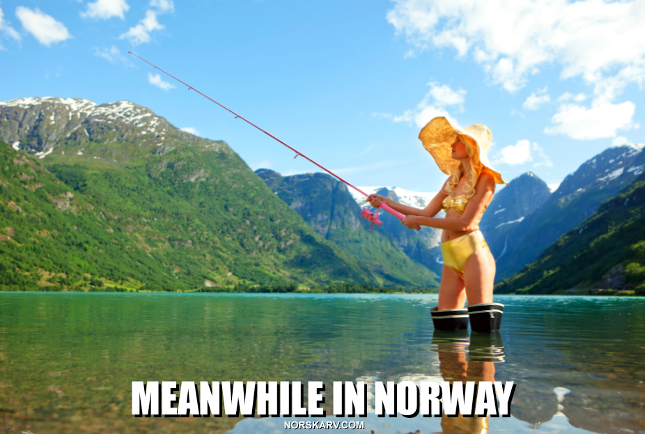 meanwhile in norway meme alt for norge meme norwegian norskarv bikini fishing