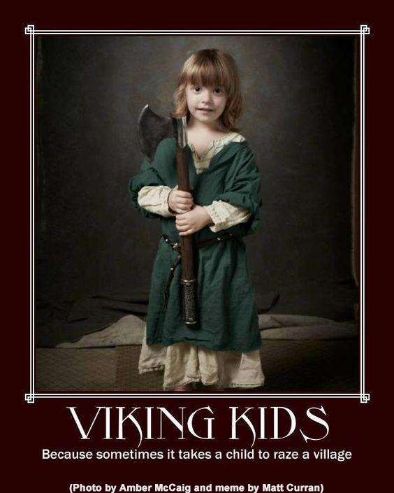 viking kids meme child raze village alt for norge norskarv norwegian norway