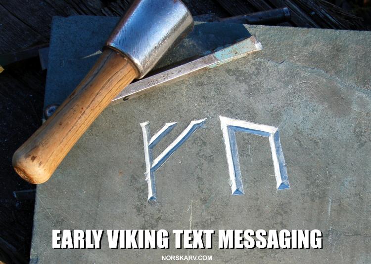 Early Viking text messaging app meme alt for norge norway norwegian norskarv rune