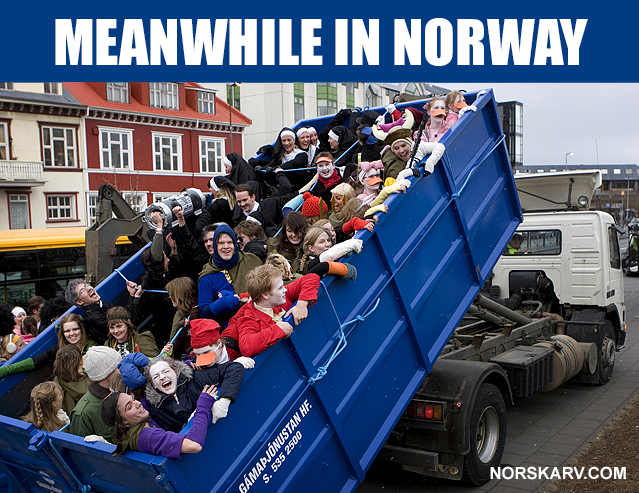 meanwhile in norway meme norwegian norskav alt for norge dump truck