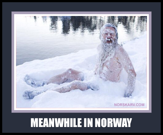 meanwhile in norway meme norwegian man in snow norskarv alt for norge funny humor humorous