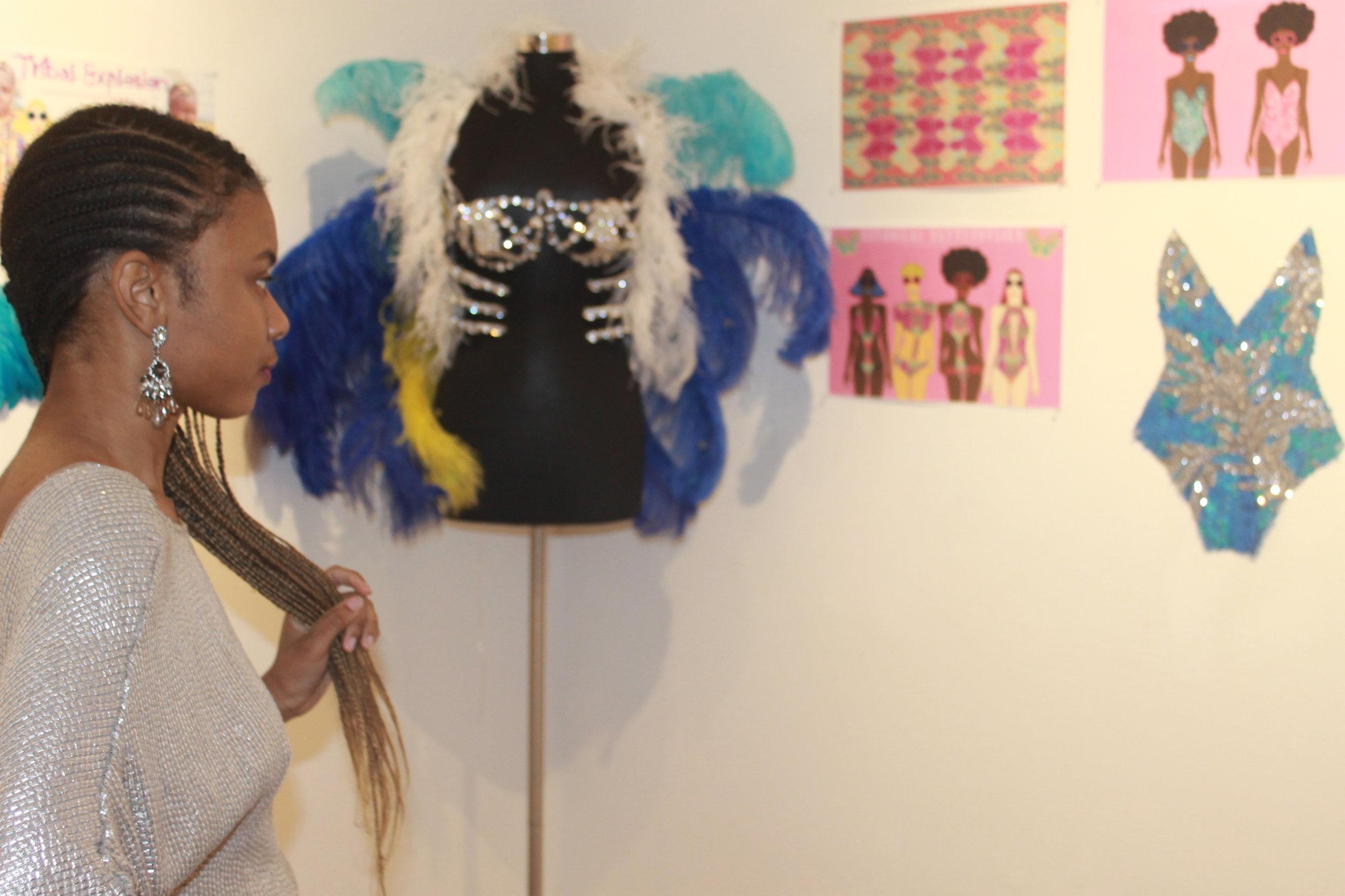 Shahedah observing her work