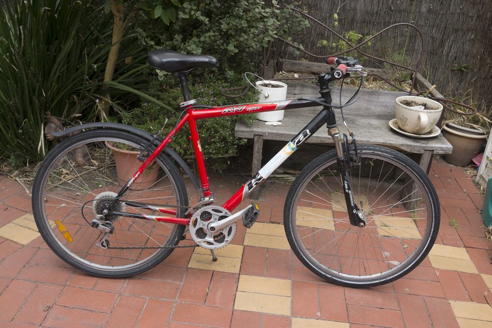 Our first donated bicycle went to a young Iranian asylum seeker, whose previous bike had been stolen.