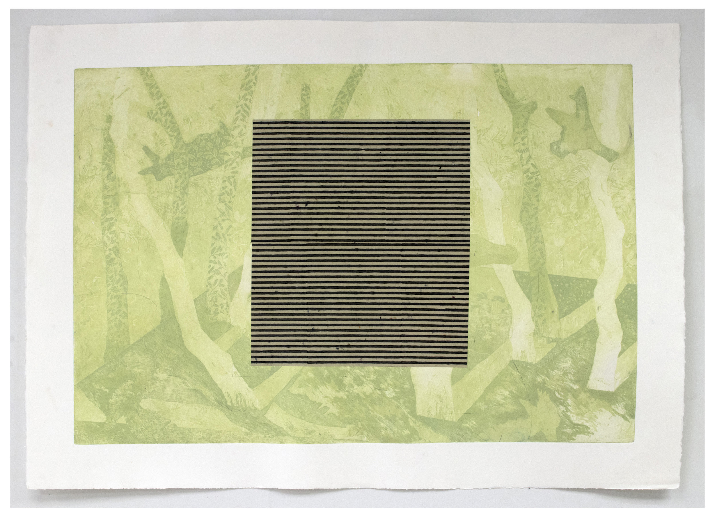 Roman Blinds ; Intaglio and found paper, 29''x41'', 2018