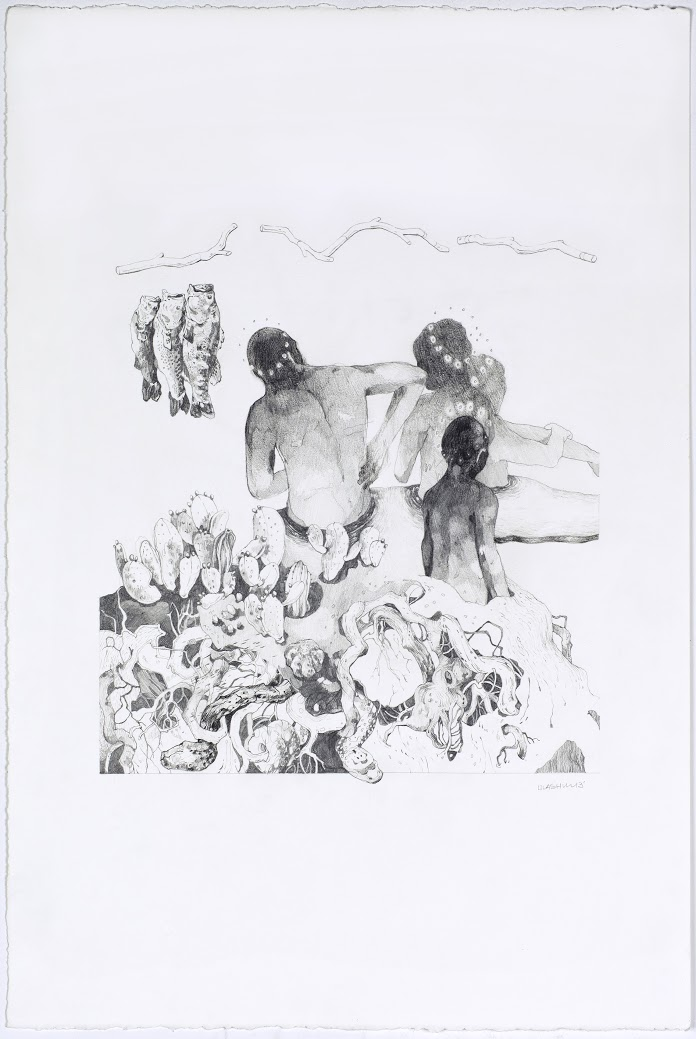 "Byland;  15""x22"", Graphite, 2014"