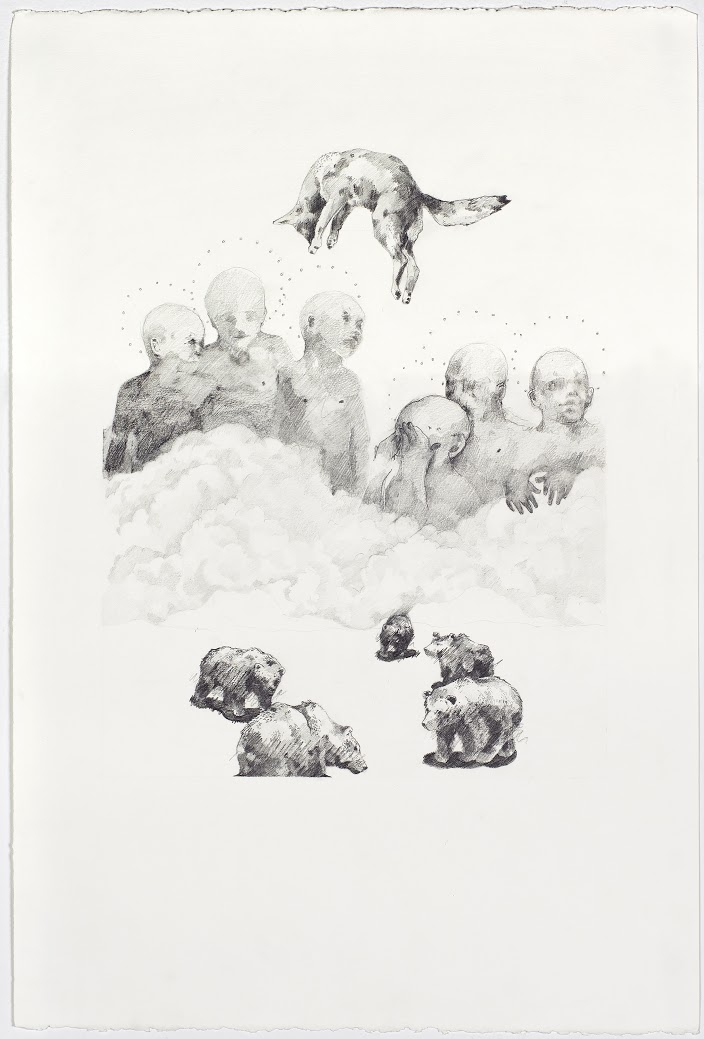 "False Awakenings;  Graphite, 15""x22"", 2014"