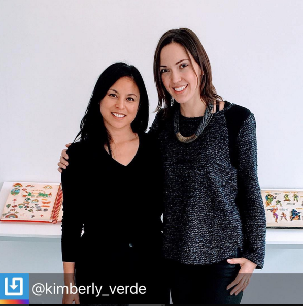 With Kimberly Verde, gallery owner