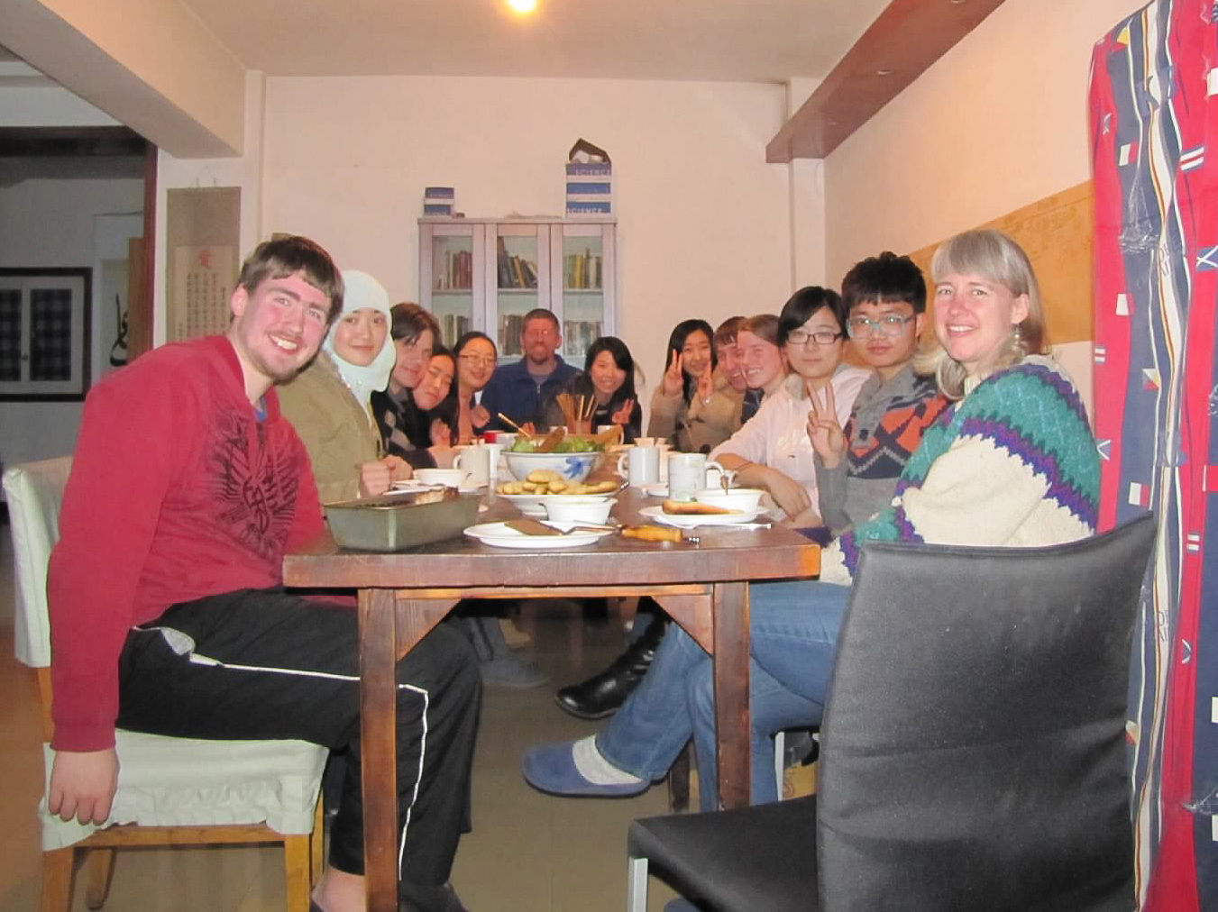 Hosting a Thanksgiving meal for Jodie's husband's classmates in the city.