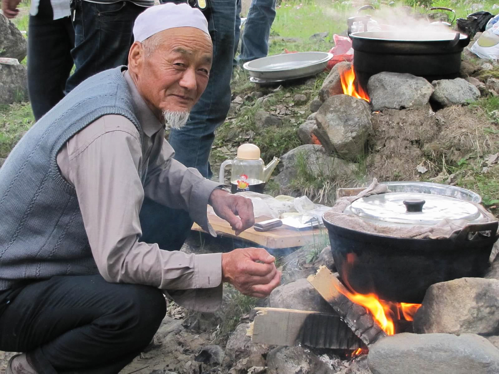 One of the cooks at our picnic